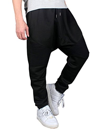 Yollmart YOLL Men's Cropped Harem Baggy Pants Jogging Hip Hop Trousers Jogger by Yollmart