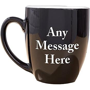 8e4c9da6868 GiftsForYouNow Any Message Here Black Bistro Personalized Coffee Mug,  Ceramic, 16 oz.