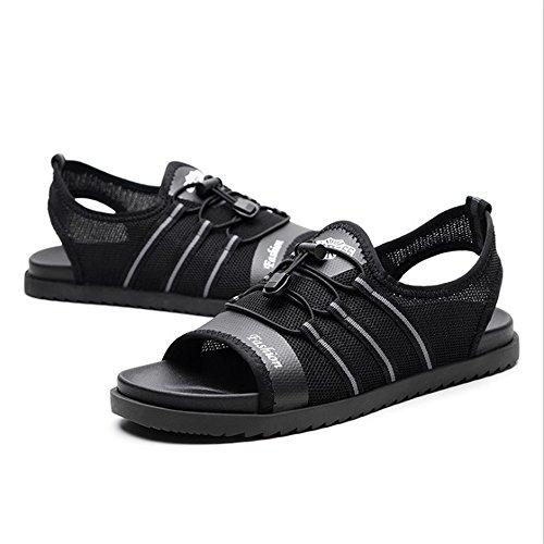 Negro 3 Cm Al 0 Tamaño Libre Para 0 Net 1 color Transpirables Paño Eu Sandalias Zapatos Sandalia Negro Aire 27 39 24 Hombres Antideslizantes x1xZT