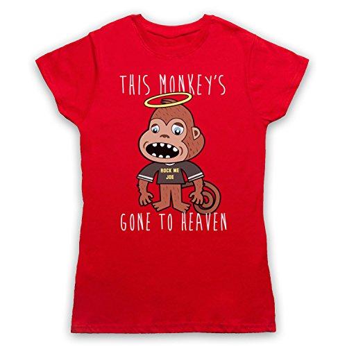 Inspired Apparel Inspiriert durch Pixies Monkey Gone To Heaven Inoffiziell Damen T-Shirt Rot