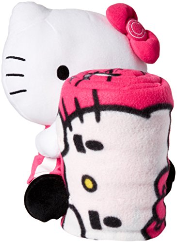 NFL Indianapolis Colts Hello Kitty Fleece Throw with Hugger, 40 x 50-Inch, Pink Indianapolis Colts Fleece Throw
