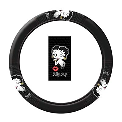 U.A.A. INC. 1 pc Betty Boop Timeless Original Design Logo Black Steering Wheel Cover New: PlastiColor: Automotive [5Bkhe2008805]