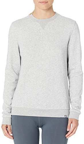 CARE OF by way of PUMA Women's Long Sleeve Terry Crew Neck Sweatshirt