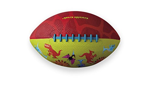 saurs Patterned /Red Kid-Sized Football, Lime Green, 8