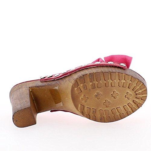 de y tacón Rosa sandalias de con bandeja la nodo 14cm gZtqpZ