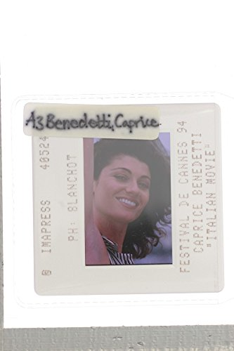 Slides photo of American actress Caprice Benedetti at Festivities De Cannes39;94.