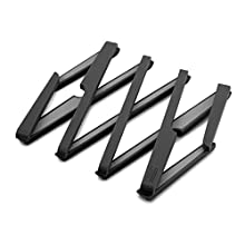JosephJoseph Stretch - Platillo de silicona extensible, resistente al calor hasta 220 ° C, plegable, negro