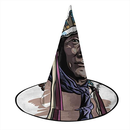 East Indian Halloween Costumes - Ws998MAOZI Apache Man Wearing an Indian