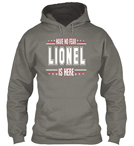 Have no Fear Lionel. M - Charcoal Sweatshirt - Gildan 8oz Heavy Blend Hoodie (All In The Family Lionel The Live In)