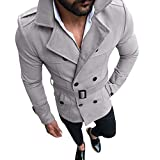 SMALLE ◕‿◕ Clearance,Outwear for Men, Autumn Winter Slim Fit Long Sleeve Suit Top Jacket Trench Coat Outwear