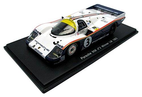 Spark – 43lm83 – Porsche 956 Rothmans – Winner Le Mans 1983 – 1/43 – Blau/Weiß
