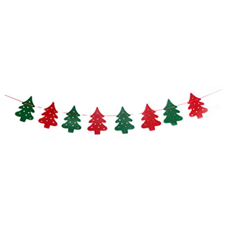 christmas decorations paper christmas tree hat snowman merry christmas bunting banner flag christmas party decoration