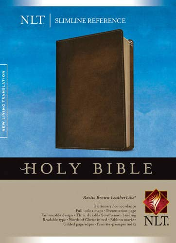Slimline Reference Bible NLT (Red Letter, LeatherLike, Brown) (Best Way To Make Extra Money On The Side)