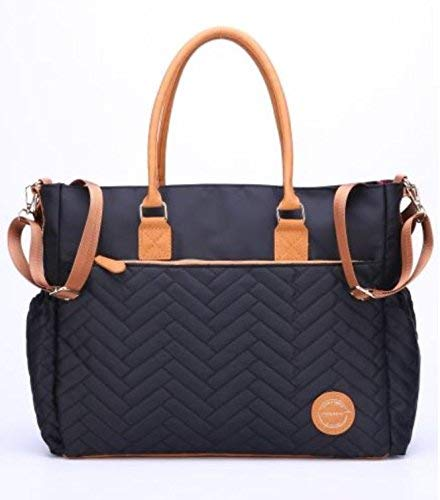 Large Diaper Bag, Quilted Stylish Diaper Tote by Masoom - Designer Bag for Modern Moms