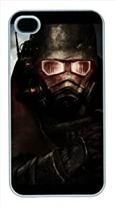 Iphone 4/4s Cover Fallout New Vegas Logo, DIY White Skin Sides PC Hard Protector Case of Cecilydreaming