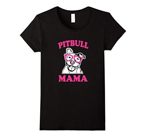 Pit Bull Ladies T-shirts (Womens Pitbull Mama funny Pit Bull awareness women's T-shirt XL Black)