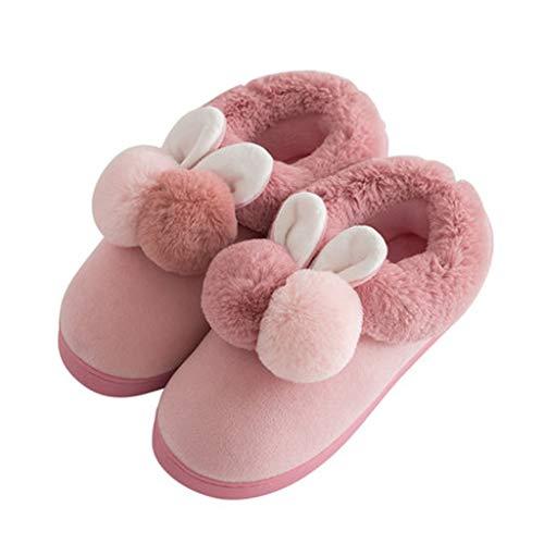 Dimensioni Skin colore Pink Pantofole Invernali 38 Laosunjia 39 Donna Red wPUpqR1