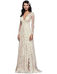 0c5328ec239 Melissa Sweet Linear Lace Wedding Dress Style MS251173 · David s Bridal