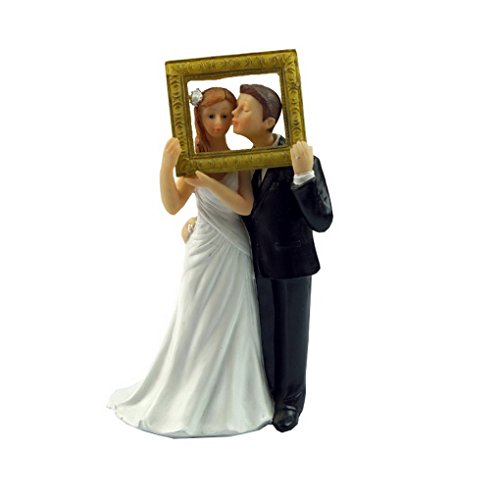 Bride and Groom Picture Perfect Couple Figurine Wedding Cake Topper