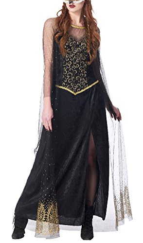 Womens Adult Black Medieval Queen Dress Costume Size Large 12/14