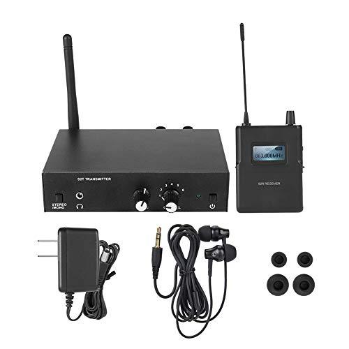 Sistema de monitorización, sistema de monitorización in-ear inalámbrico estéreo para ANLEON S2,863-865MHZ 100-240V Sistema de monitorización de audio in-ear (enchufe de EE. UU.)
