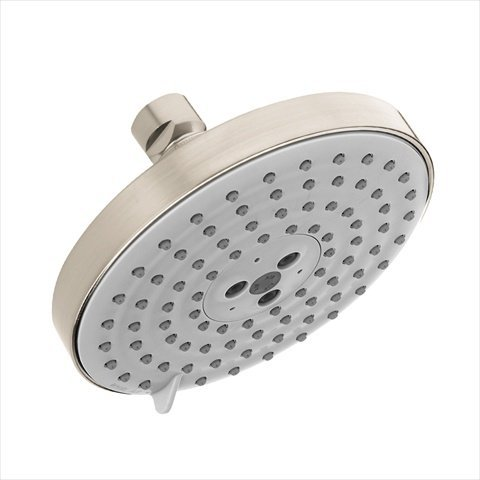 - Hansgrohe 27495821 Raindance S 150-AIR 3-Jet Shower Head with Glory Glaze Stainless Steel and Chrome Cleaner and Stainless Steel Polish, Brushed Nickel