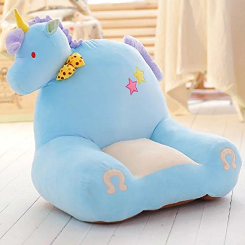 JIBUTENG Boys Girls Sofa Cute Animal Plush Toy Soft Sofa Seat, Stuffed Plush Toy Bean Bag Chair Seat,Cartoon Animal Tatami Chairs for Boys Girls (Unicorn)