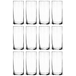 Glass Cylinder Vases Bulk Set of 12 for Wedding Reception Centerpiece Sets and Formal Dinners