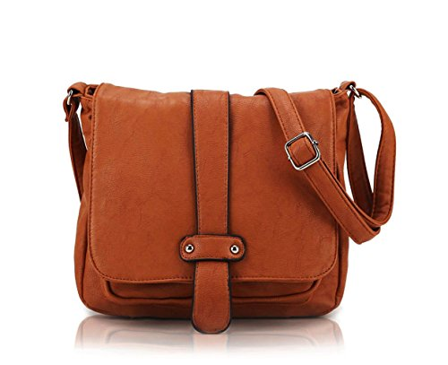 (Scarleton Accent Strap Flap Crossbody Bag H153925 - Camel)