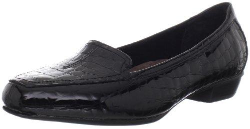 CLARKS Women's Timeless Loafer Black/Crocodile