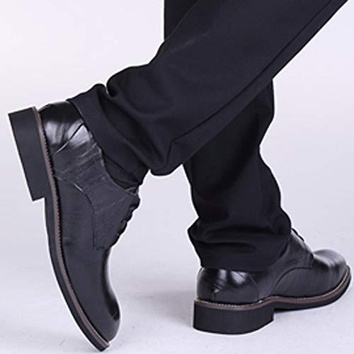 Bazhahei Vestir Planos Zapatillas Color De Zapatos Cuero Hombre Black Moda Hombres Para 7 Negocios Boda Sólido Casuales Los wCEvgq
