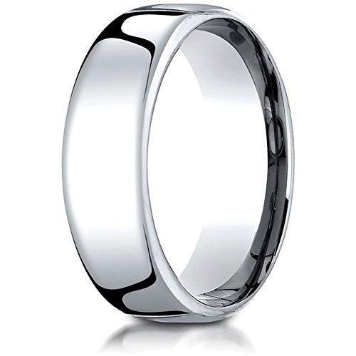 nice Platinum 7.5mm European Comfort Fit Ring save more