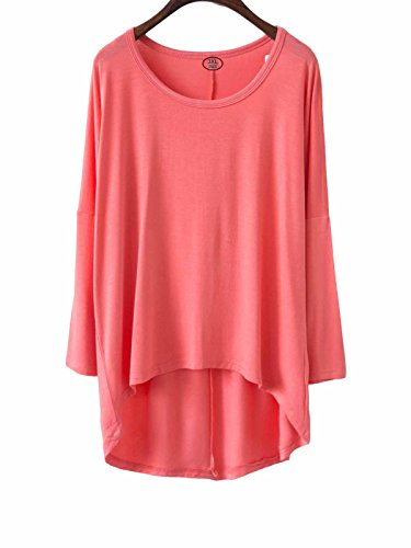 Century Star Women's Loose Casual T-shirt Plus Size Batwing Sleeve Blouse Fashion Tunic Top Watermelon 3XL / US 16W-24W