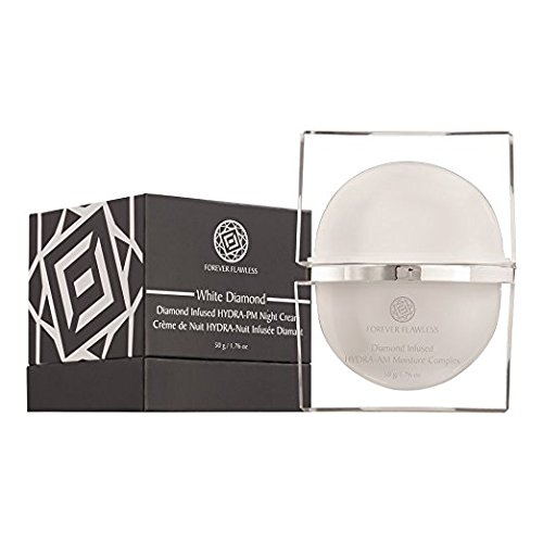 Forever Flawless HYDRA-PM Night Cream - Infused with Vitamins and 100% Natural Diamond Powder - Anti-Aging Face Cream for Men and Women - White Diamond Collection - 1.76 oz.