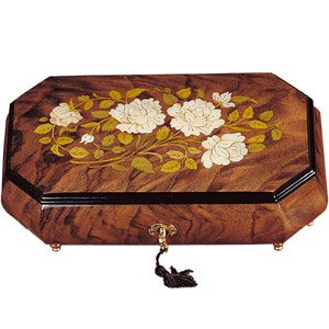 Italian Inlaid Wooden Floral Music Box - A  sc 1 st  Amazon.com & Amazon.com: Italian Inlaid Wooden Floral Music Box - A: Kitchen ... Aboutintivar.Com