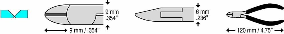 C.K T3880DF 110 Pince coupante diagonale ESD 120 mm avec micro-chanfrein T/ête ovale