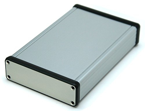 1455L Silver Aluminum Box, For 3U Sized PCBs, With 5 Card Guide Slots, Box = 6.30 x 4.06 x 1.20 in