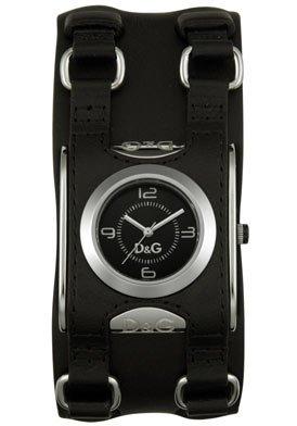 0a53c4ed9015c1 Dolce Gabbana - DW098 - Montre Femme - Quartz - Bracelet Cuir Noir ...