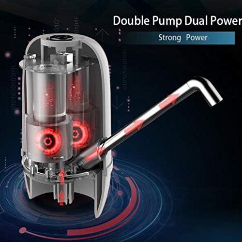 CHENG Bottiglia di Acqua della Pompa, USB Sainless Acciaio Dell'erogatore della Pompa 2000 mAh Doppio Potenti Pompe Elettriche Acqua Potabile Dispenser Tap