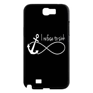 I refuse to sink Design Unique Customized Hard For Case Samsung Galaxy Note 2 N7100 Cover , I refuse to sink For Case Samsung Galaxy Note 2 N7100 Cover Case
