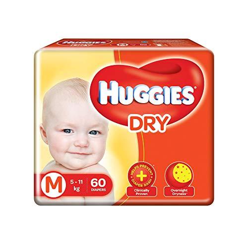 Huggies New Dry Pants, Medium  M  Size Baby Diaper Pants, 60 count