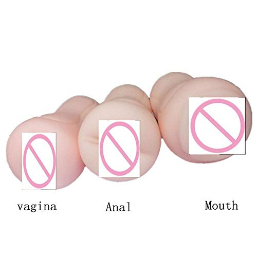 rewikie Fun-Store Silicone Anal Male Masturbators Sex Toys for Man Girls R-ealistic Vagina Artificial Deep Throat Oral Sex Toys,3 Pcs by rewikie