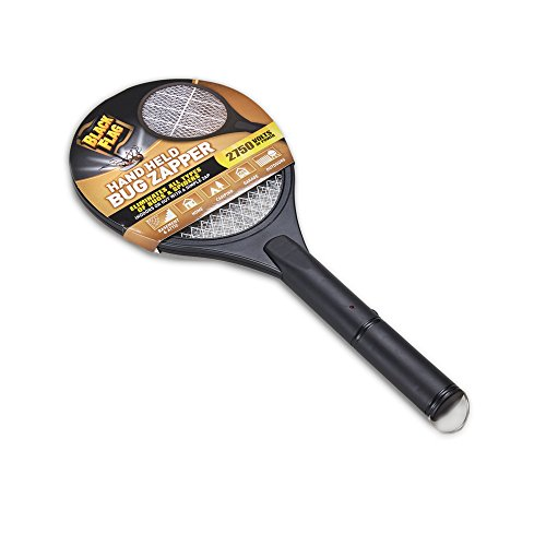 Electric Bug Swatter (Black Flag Handheld Bug Zapper, Black)
