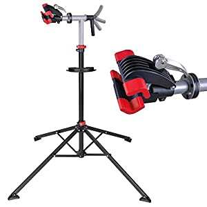 """Adjustable Repair Stand w/Telescopic Arm Cycle Bicycle Rack 42"""" to 74"""" Rotate 360 Degrees"""
