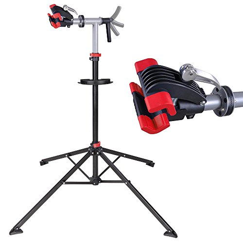 "Adjustable Repair Stand w/ Telescopic Arm Cycle Bicycle Rack 42"" To 74"" Rotate 360 Degrees"