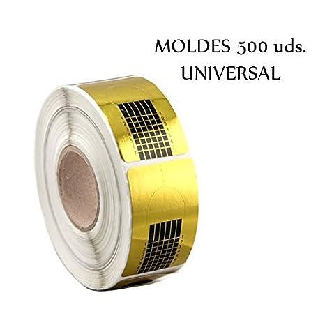 Moldes 500uds Dorados para uñas / 1 x Rollo de 500 Moldes para de Uñas de gel - Oro / 500 molde para acrilico: Amazon.es: Belleza