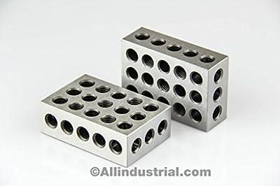 """BL-123 Pair of 1"""" x 2"""" x 3"""" Precision Steel 1-2-3 Blocks from 1-2-3 Blocks"""