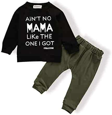 29469453e14fe Baby Boy Clothes Funny Letter Printed Tops Leggings Pants Outfits Set for  Toddler Boys