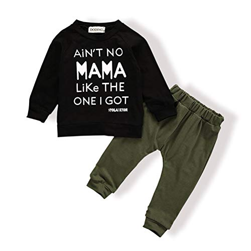 Baby Boy Clothes Funny Letter Printed Tops Leggings Pants Outfits Set for Toddler Boys (2-3 T)