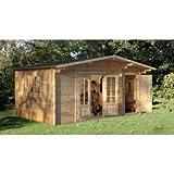 Wrekin Log Cabin 4.5m x 3.5m Summerhouse, Office, Studio, Garden Room, Retreat